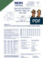 Data Sheet No. 13.01 - 707 Safety Valve