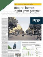 EL COMERCIO | Lima Milenaria 'En 140 años no hemos creado ningún gran parque' D-EC-10032013 - El Comercio - País Lima - pag 12