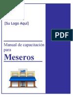 Server Training Manual - Spanish