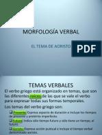 MORFOLOGÍA VERBAL. EL AORISTO.pptx