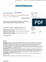 Brazilian Journal of Physical Therapy - Comparison of Quality of Life for Different Types of Female Urinary Incontinence