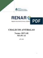 Manual de Chalecos Antibalas Norma RENAR MA. 01-A1