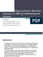 Channel Surfing to Protect Reactive Jammers in WSN-Powerpoint