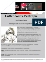 Sport - Performance - Psychologie - Lafay - Lutter Contre l'Enthropie