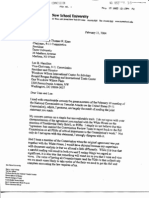 Letter from 9/11 Commission Bob Kerrey Complaining about Deal on PDB Access
