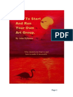 How to Start and Run Your Own Art Group