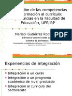 Integración de Las Competencias de Información Al Currículo