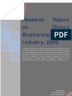 Research Report on China's Bio Pharmaceutical Industry, 2009