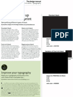 Setting Up Print Blacks & Typographic Tips