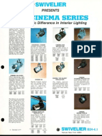 Swivelier Cinema Series Track Lighting Bulletin 1977