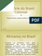 História do Brasil Colonial - Brasil Africano
