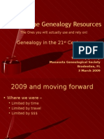 Core Online Genealogy Resources - The Ones you will actually use and rely on!
