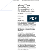 Microsoft Visual SourceSafe for Document Control in ISO 9000 Registration