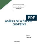 analisis funcion cuadratica
