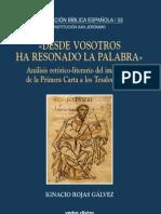 Rojas Ignacio - Análisis retórico literario de 1 Tesalonicenses - Cap 1