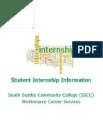 student internship information