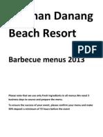 Pullman Barbecue Menus 2013 Vietnamese Language (PDF format)