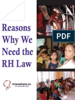 Reasons Why We Need the RH Law - EnGendeRights Aug 2010