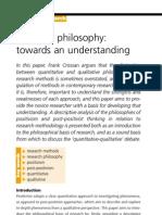 Research Philosophy Towards an Understanding