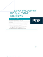 RESEARCH PHILOSOPHY and Quantative Interviews