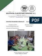 Boletín Rotario del 19 de febrero de 2013