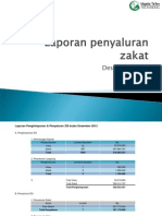 Laporan Penyaluran Zakat Desember 2012