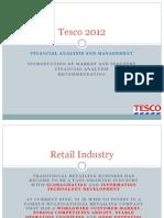 Financial Analysis on Tesco 2012