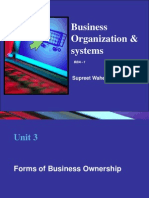 Unit 3-Forms of Business Ownership