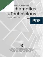Mathematics for Technicians CD Blair Alldiss