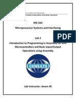 Micro processor Lab 2 Manual