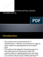Export Promotion Capital Goods Scheme Presentation