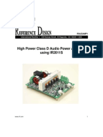 High Power Class D Audio Power Amplifier Using IR2011S