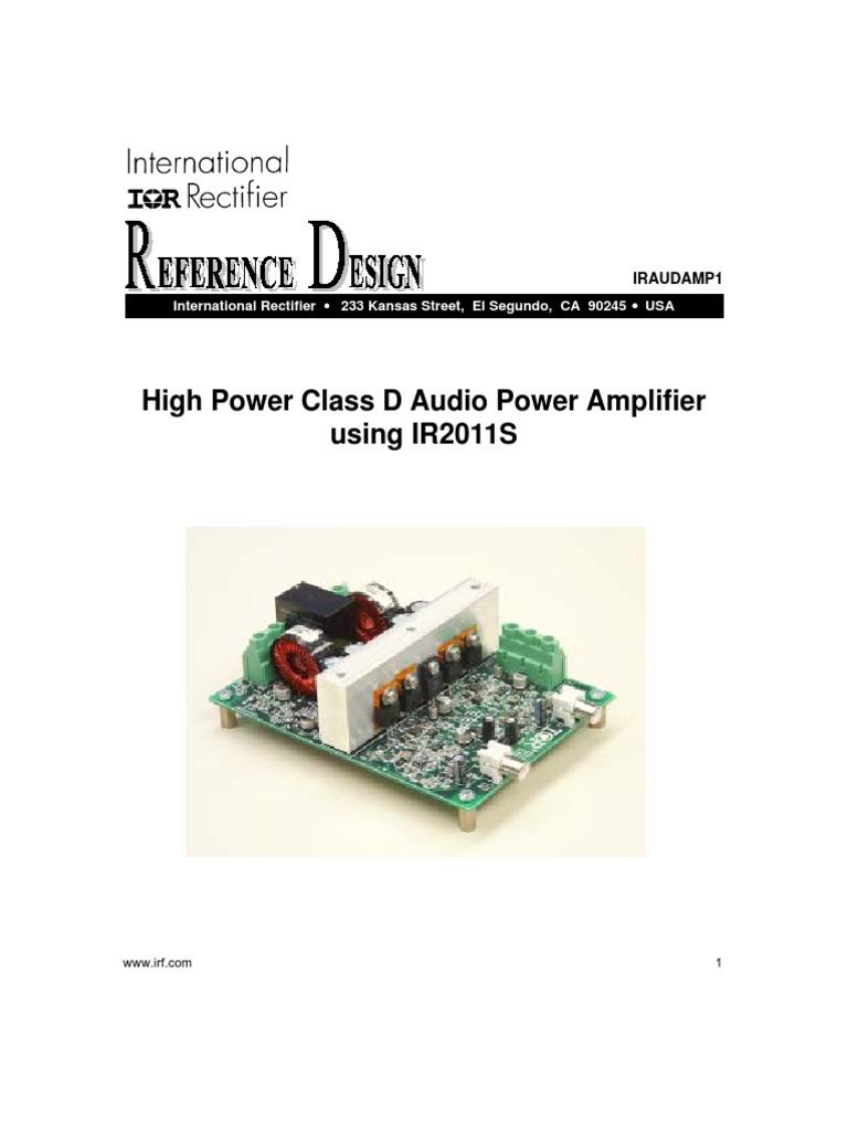 High Power Class D Audio Amplifier Using Ir2011s Circuit Design Supply