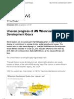 2010, BBC News - Uneven Progress of UN Millennium Development Goals