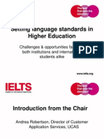 Setting Language Standards in Higher Education