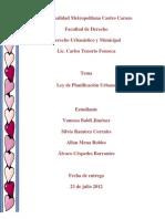 Trabajo- Ley de Planificacion Urbana!!! Final.. 2