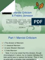 Marxist Criticism & Fredric Jameson