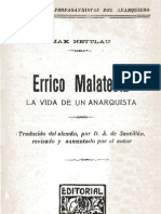 Errico Malatesta. La Vida de Un Anarquista - Max Nettlau