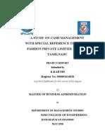 A Study on Cash Management-karthi-088001614028