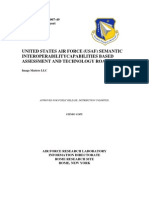 Usaf Semantic Interoperability Capabilities Based Assessment and Tech Roadmap 03 2007