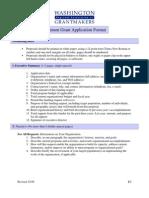 Common Grant Application Format