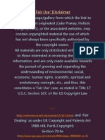 Fair Use and Legal Agreements