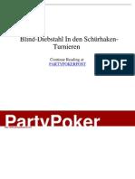 - Blind-Diebstahl in Den Schürhaken-Turnieren