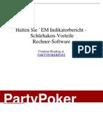 - Halten Sie ' EM Indikatorbericht - Schürhaken-Vorteile _Rechner-Software