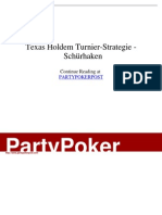 - Texas Holdem Turnier-Strategie - Schürhaken
