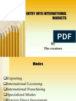 Modes of Entering in International Business