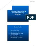 Env200 Chap 2 Community Ecology and Population Ecology
