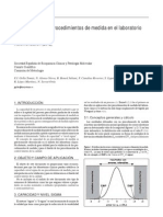 Metrología-Capacidad de los procedimientos de medida en el laboratorio clínico nivel sigma (Recomendación 2012)