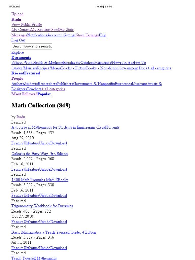 Math _ Scribd Collection | Geometry | Mathematics