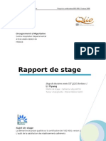 Rapport de Stage Final Groupement d Aquitaine Li Yiyang